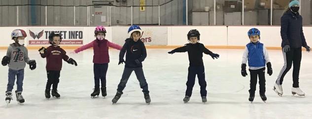 covid kids in line skating
